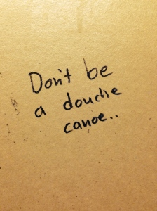 I saw this on the backside of a bathroom stall at my son's basketball tournament yesterday. Proof positive that inspiration can come from really strange places.